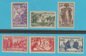 REUNION 167 - 172   MINT NEVER  HINGED OG ** NO FAULTS EXTRA FINE