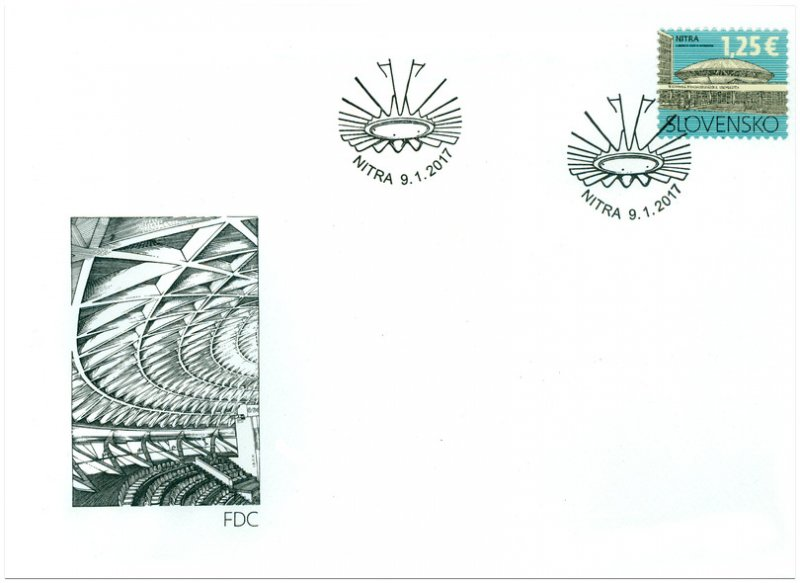 SLOVAKIA/2017, (FDC) University of Agriculture in Nitra, MNH