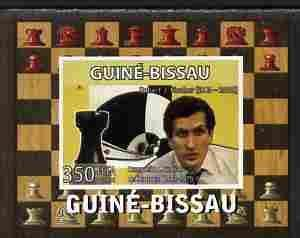 Guinea Bissau 2008 CHESS MASTER Robert Fischer Deluxe s/s Mint (NH) #6