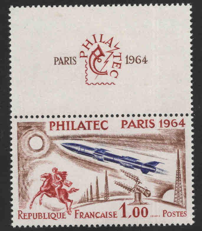 FRANCE Scott 1100 Philatec Paris 1964 show MNH** with label at top