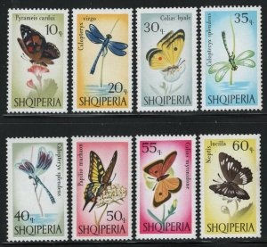 Albania 1966 Butterflies set Sc# 922-29 NH