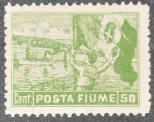 DYNAMITE Stamps: Fiume Scott #51 – MINT hr