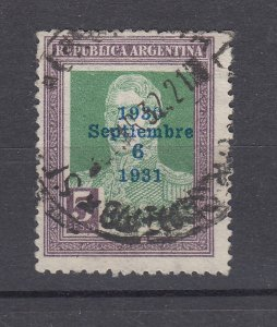 J28562 1931 argentina used #404 ovpt
