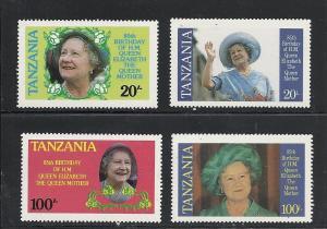 Tanzania #267-70 comp mnh cv $1.00