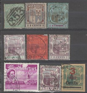 COLLECTION LOT # 3730 MAURITIUS 9 STAMPS 1865+ CV+$11