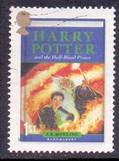 Great Britain 2007 used Harry Potter 1st    half-blood prince     #