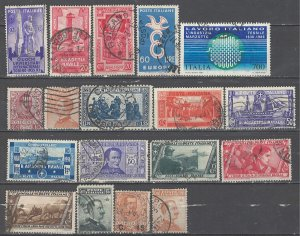 COLLECTION LOT # 4560 ITALY 18 STAMPS 1901+ CV+$26