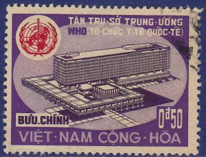 Vietnam (South) - 1966 - Scott #291 - used - WHO United Nations