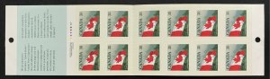 Canada 1191a  flag booklet MNH SCV $18.00