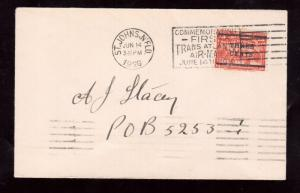Newfoundland #129 Very Fine Used On Cover With Ideal CDS & Slogan Cancel