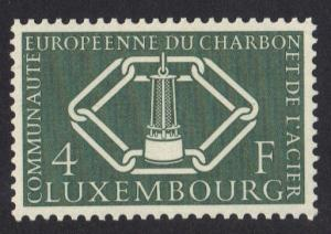 Luxembourg  MNH  1956 European coal and steel industry 4F #