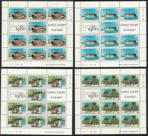 Kiribati 'London 1980' International Stamp Exhibition 4v Sheetlets SG#112-115