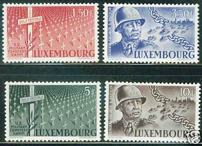 LUXEMBOURG Scott 242-5 WW2 stamp set CV$4.85