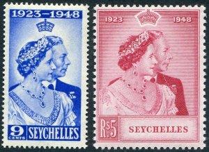 SEYCHELLES-1948 Royal Silver Wedding Set Sg 152-153 UNMOUNTED MINT V48964