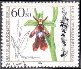 Germany - Berlin # 9NB217 used ~ 60pf + 30pf Orchid