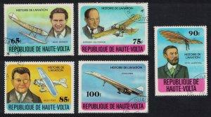 Upper Volta Aviation History 5v CTO 1978 CTO SG#475-479
