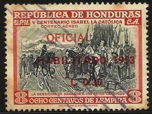 Honduras Air Mail 1953 Scott# C215 Used