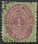 Danish West Indies - 5 - Used - SCV-30.00