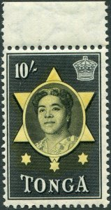 TONGA-1953 10/- Yellow & Black Sg 113 UNMOUNTED MINT V48329