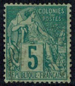 French Colonies Scott 49 Unused hinged.