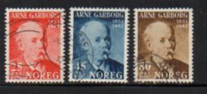Norway Sc 318-0 1951 Garborg stamp set used