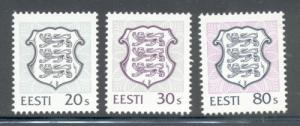 Estonia Sc 299-01 1995 National Arms stamp set mint NH