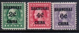USA #K1 #K2 #K3 Very Fine Mint Original Gum Hinged Trio