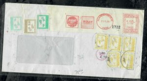 ZIMBABWE COVER (PP0301B) 1999 INCOMING COVER FROM SA POSTAGE DUE 1CX5