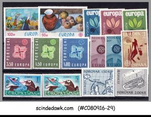 SELECTED STAMPS OF EUROPA DIFFERENT COUNTRIES - 15V - MINT NH