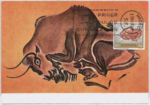32259   MAXIMUM CARD - POSTAL HISTORY - Spain: Archaelogy, Hunting, Art, 1967