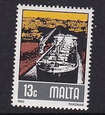 Malta   #610   MNH  1981  industries 13c  shipbuilding yards tanker