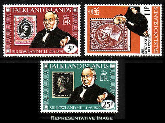 Falkland Islands MNH 291-3 Sir Rowland Hill Stamps On Stamps SCV 1.35