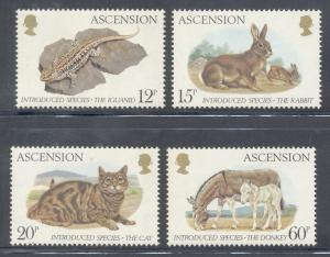 Ascension Sc 336-9 1983 Introduced Animals stamp set mint NH