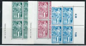 Germany (Baden), 5NB9-11 Carl Schurz Block of 4 set MNH