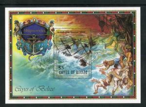 CAYES OF BELIZE 27 S/S MNH SCV $4.75 BIN $3.00 SHIPS