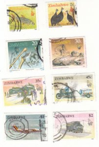 Zimbabwe 614, 615, 621, 625, 627, 629, 630, 631 used