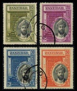 Zanzibar Scott 214-217 Used.