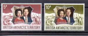 British Antarctic Territory 43-44  MNH