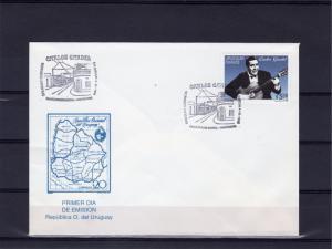Uruguay 1995 Sc#1587 Carlos Gardel Tango Musician (1) F.D.C.