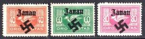 LITHUANIA C2-C4 WW2 JANAU OVERPRINT OG H M/M F/VF TO VF