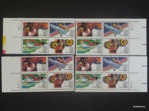 BOBPLATES #C105-8 Olympics Matched Set of 4 Plate Blocks 2222 VF NH SCV=$25.6