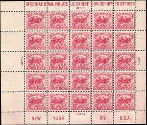 630 Mint,OG,NH... Souvenir Sheet... SCV $575.00... Dot over S variety