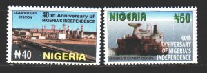 Nigeria. 2000. 721-22 from the series. 40 years of independence of Nigeria, g...
