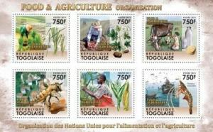 Togo - Food & Agriculture - 6 Stamp  Sheet 20H-256