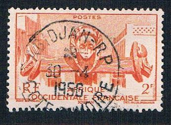 French West Africa 45 Used Bamako Fountain (BP10011)
