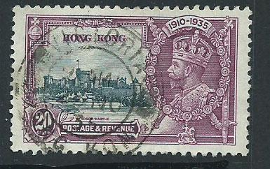 Hong Kong  QEII SG 136 VFU  lovely cancel full perfs Silv...