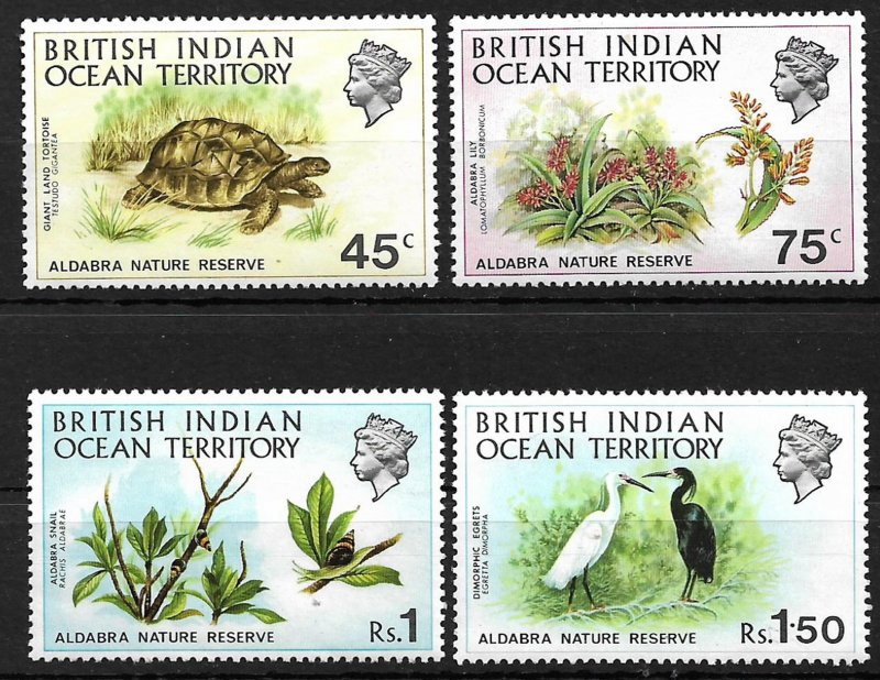 COLLECTION LOT #250 BRITISH INDIAN OCEAN TERRITORY # 39-42 1971 MH 2 SCAN CV+$22