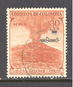Colombia Sc # C338 used (DT)