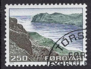 Faroe Islands  #16  1975  used  250 ore