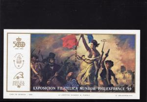 Argentina 1989 Sc#1658 Liberty Guiding the People by Delacroix SS IMPERFORATED